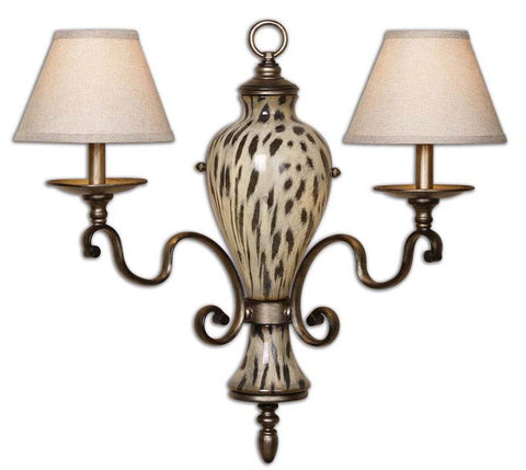 Uttermost 22489 Malawi 2 Light Wall Sconce - UTMDirect