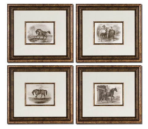 Uttermost 33590 Horses Framed Art Set/4 - UTMDirect