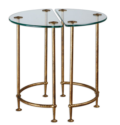 Uttermost 24337 Aralu Glass Side Tables, S/2 - UTMDirect