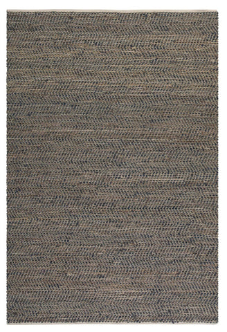 Uttermost 71001-5 Tobais 5 X 8 Rescued Leather & Hemp Rug - UTMDirect