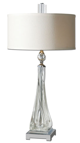 Uttermost 26294-1 Grancona Twisted Glass Table Lamp - UTMDirect