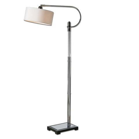 Uttermost 28594-1 Adara Glass & Chrome Floor Lamp - UTMDirect