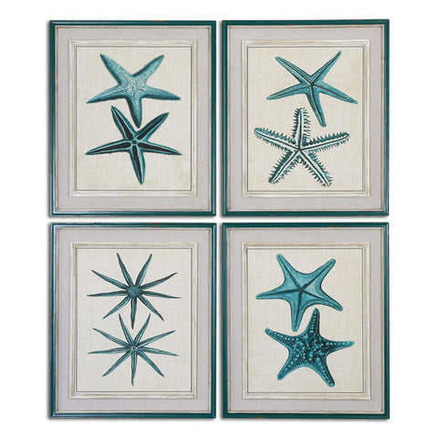 Uttermost 51093 Coastal Starfish Framed Art S/4 - UTMDirect