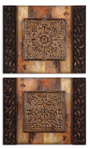 Uttermost 51054 Ornamentational Block I Ii  S/2 Art - UTMDirect
