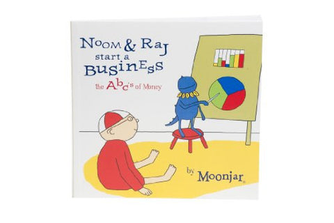 Noom & Raj Start a Business: The ABCs of Money kit (pocket-sized book)