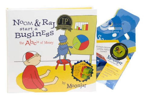 Noom & Raj Start a Business: The ABCs of Money kit (hardcover book)