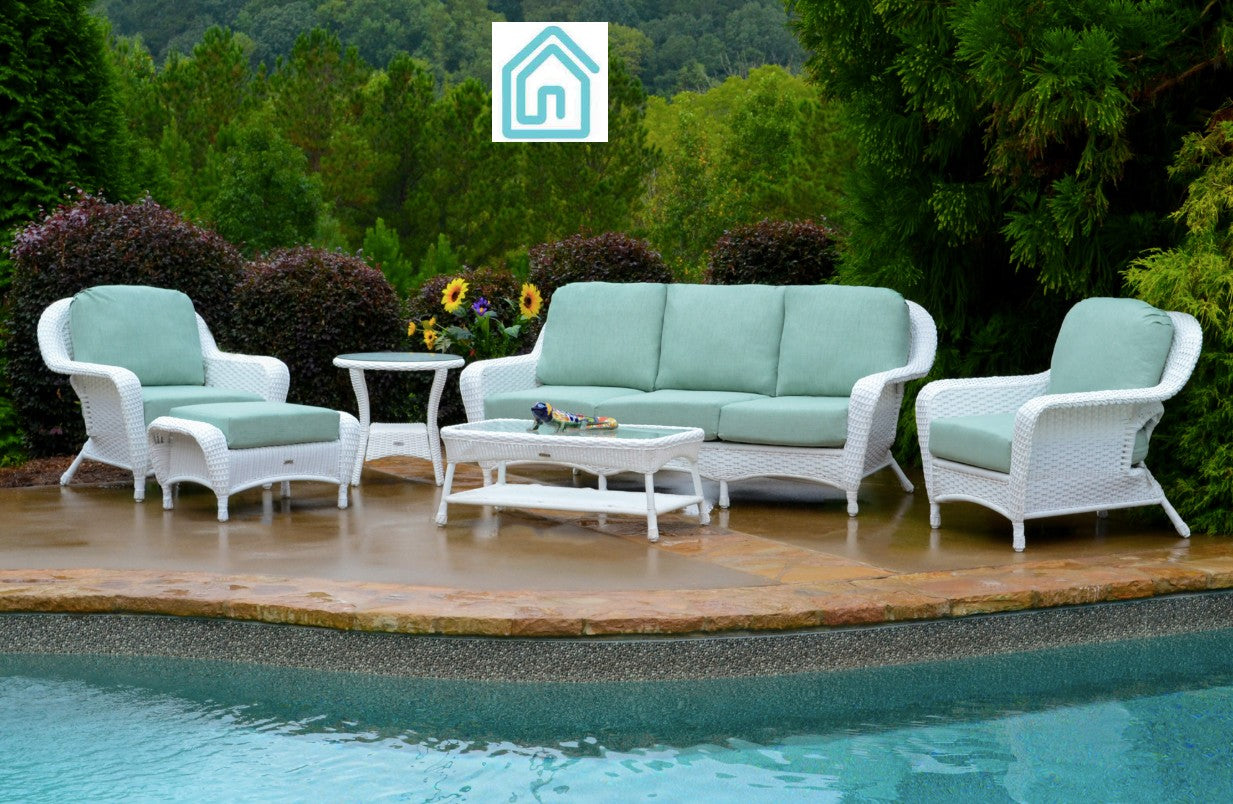 Best White Wicker Furniture 6 Piece Outdoor Sofa Sets Modern
