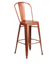 "Flash Furniture Copper Color High Back 30"" Metal Bar Stools"