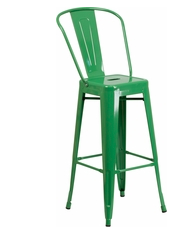 "Flash Furniture Green Color High Back 30"" Metal Bar Stools"