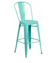 "Flash Furniture Mint Color High Back 30"" Metal Bar Stools"