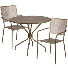 "Flash Furniture 35.25"" 3 Piece Patio Round Table Set"