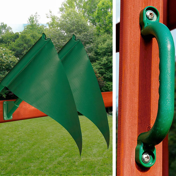 Gorilla Playsets For Sale Five Star II Flags Safety Handles
