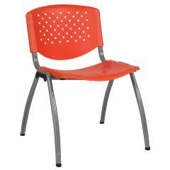 Flash Furniture Hercules Series 880 lb Orange Plastic Stackable Chair