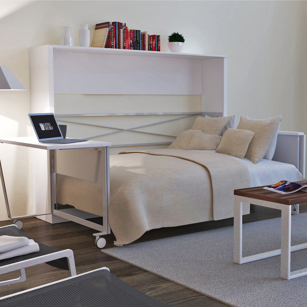 Beds Furniture Stores: Leto Muro Alex Wall Bed With American Oak Online Furniture