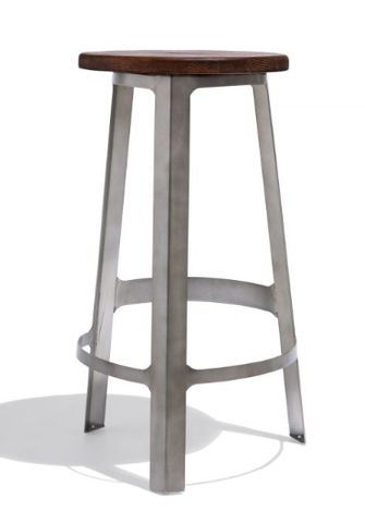 Modern Barstools | Multi-Colored Wooden Seat Metal Frame Barstools