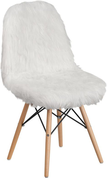 Flash Furniture Faux Fur Pink Accent Chair
