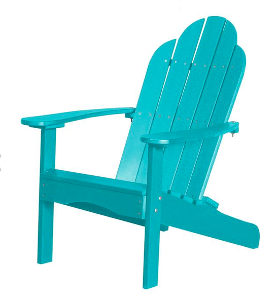 95% Recycled Poly Furniture Aqua Blue Adirondack Chairs Made U.S.A.