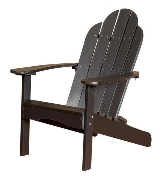 95% Recycled Poly Furniture Black Adirondack Chairs Made U.S.A.