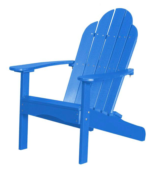 95% Recycled Poly Furniture Blue Adirondack Chairs Made U.S.A.