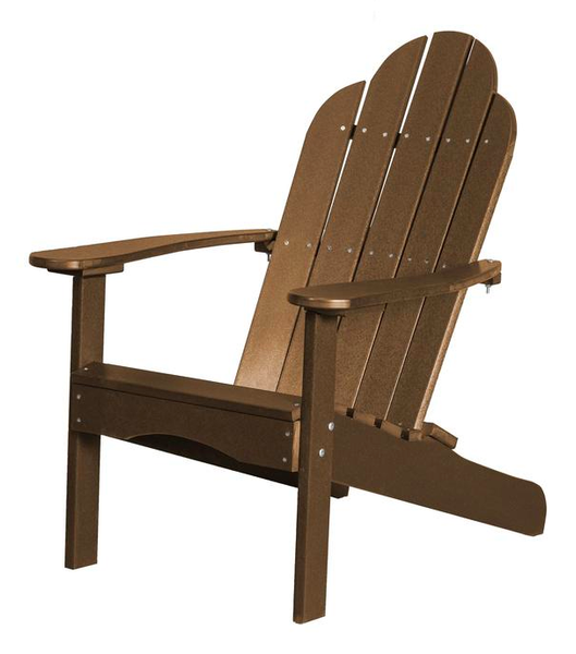 95% Recycled Poly Furniture Brown Adirondack Chairs Made U.S.A.