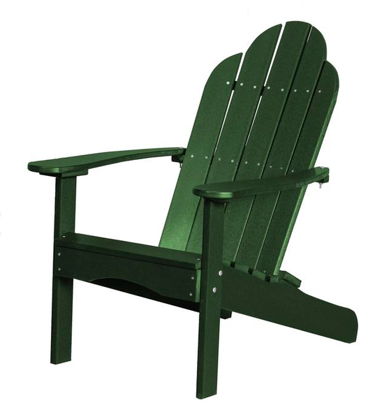 95% Recycled Poly Furniture Green Adirondack Chairs Made U.S.A.