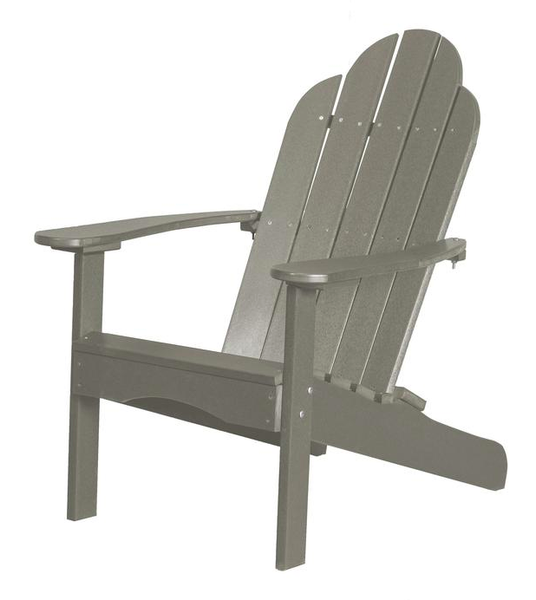 95% Recycled Poly Furniture Light Gray Adirondack Chairs Made U.S.A.