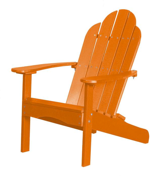 95% Recycled Poly Furniture Orange Adirondack Chairs Made U.S.A.