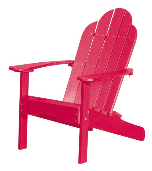 95% Recycled Poly Furniture Pink Adirondack Chairs Made U.S.A.
