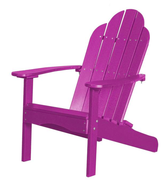 95% Recycled Poly Furniture Purple Adirondack Chairs Made U.S.A.