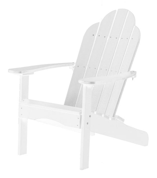 95% Recycled Poly Furniture White Adirondack Chairs Made U.S.A.