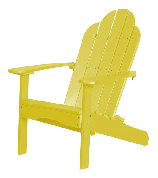 95% Recycled Poly Furniture Yellow Adirondack Chairs Made U.S.A.