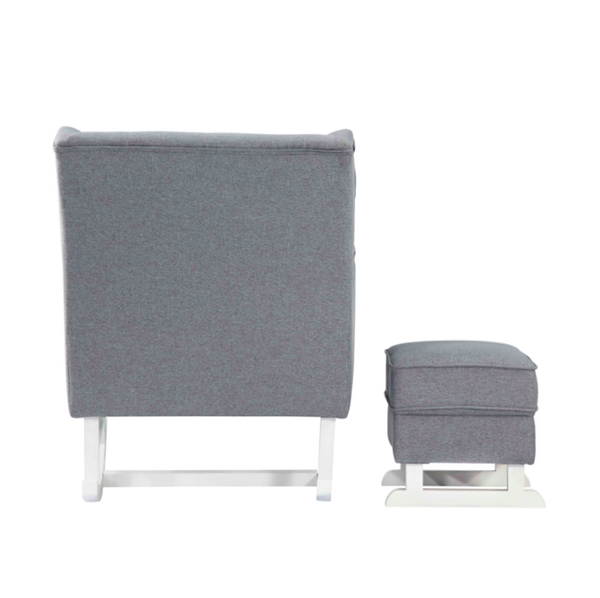 Fine Mod Imports Maternity Rocking Chair With Ottoman Gray Fabric