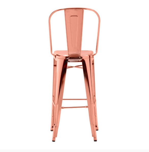 Rose Gold Metal Bar Chairs On Sale Online Furniture Store, Set of 2
