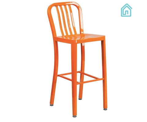 30 inch Orange Metal Barstools For Sale Online Furniture Store