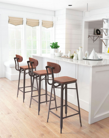 Charming Modern Farmhouse Chair | Zuo Modern Broadway Bar Stool