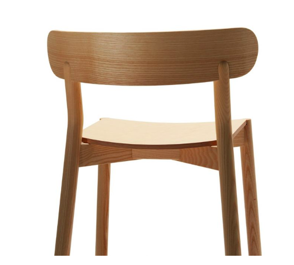 Made In Italy High End Solid Oak Bar Stool With Back