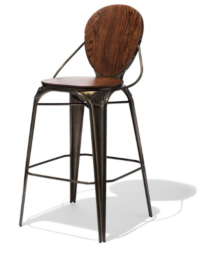 Best Vintage Industrial Design Modern Gunmetal Bar Stools For Sale Online