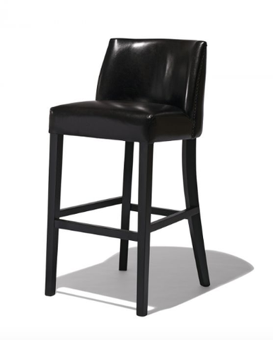 Modern Bar Stool | Classic Design Leather Seat Wooden Frame
