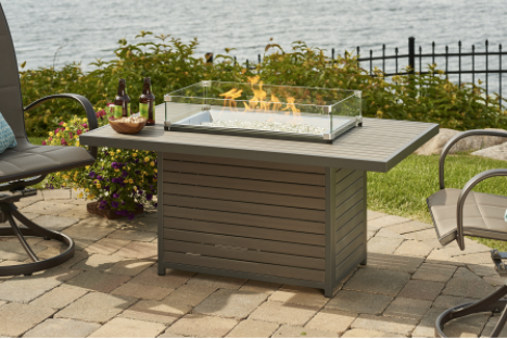 Outdoor GreatRoom Company Brooks Propane Fire Pit Table