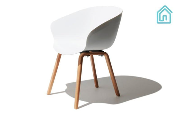 Buy Mid Century Modern White Chair Online Furniture Store