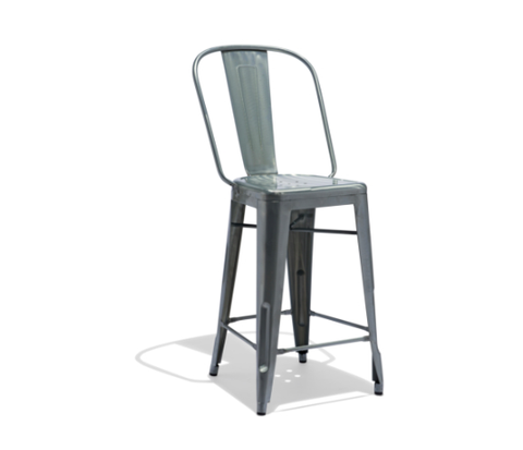 Galvanized Counter Height Bar Stool Commercial Restaurant Furniture