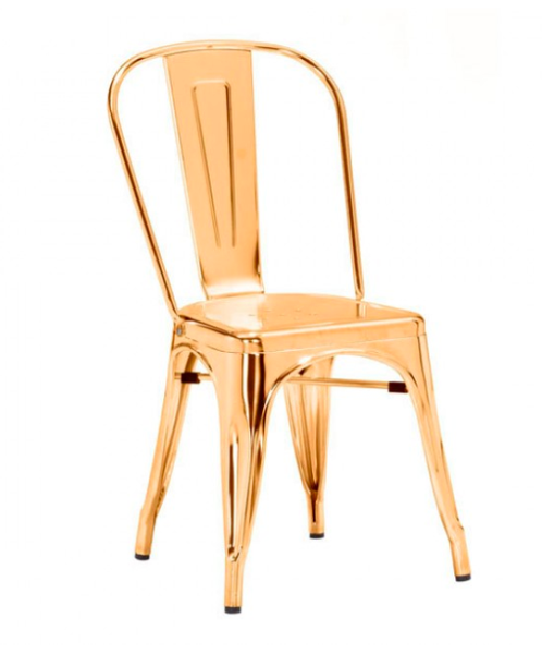 Gold Metal Chair | Modern Dining Room Kitchen Furniture