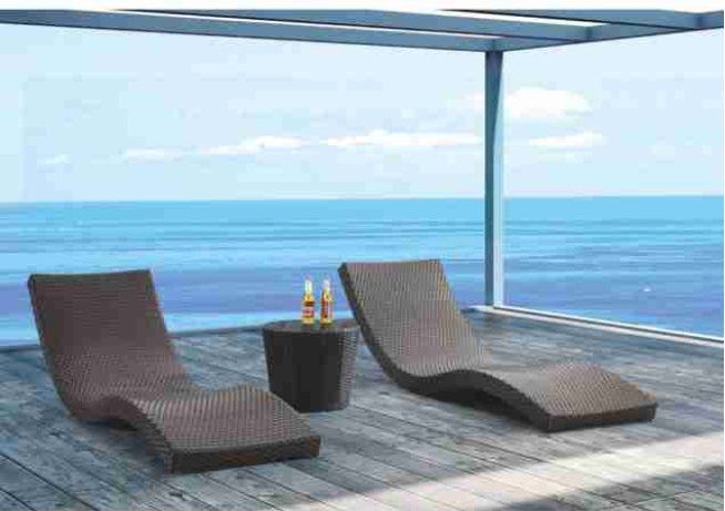 Wave Outdoor Chaise Lounge Chair Commercial Outdoor Furniture