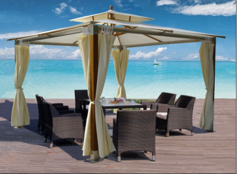 Commercial Grade Gazebos | Hotel Resort Luxury Outdoor Furniture