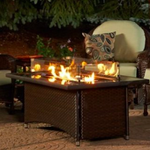 Outdoor GreatRoom Company Montego Balsam Propane Fire Pit Table