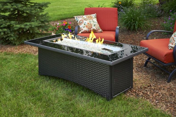 Outdoor GreatRoom Company Montego Propane Fire Pit Tables