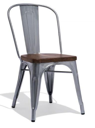 Tolix Style Restaurant Chair Galvanized Metal