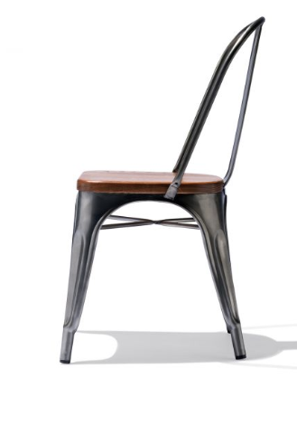 Tolix Style Restaurant Chair Gunmetal
