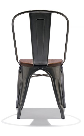 Tolix Style Restaurant Chairs Gunmetal