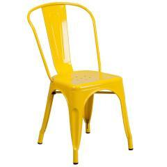 Flash Furniture Colorful Stackable Metal Chairs For Sale